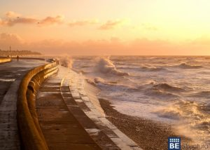 Save beachfront property with seawall construction.